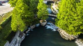 Perełkowy riverwalk zdjęcie stock