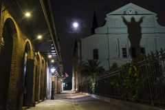 Pere Antoine Alley Full Moon Royalty-vrije Stock Foto's