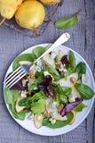 Pere ed insalata del formaggio blu Immagine Stock Libera da Diritti