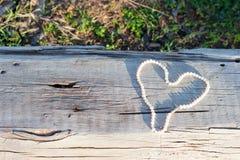 Perełkowy serce Zdjęcie Royalty Free