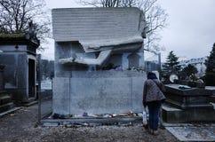 Pere Lachaise公墓,巴黎,法国 库存图片