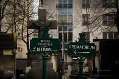 Pere-lachaise公墓 免版税库存照片