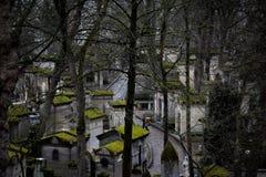 Pere-lachaise公墓 库存照片