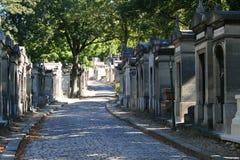 Pere Lachaise. Street in Pere Lachaise Paris Stock Image