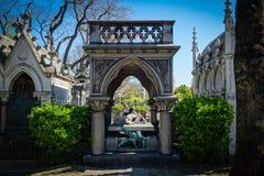 Pere Lachaise Cemetery à Paris Image stock
