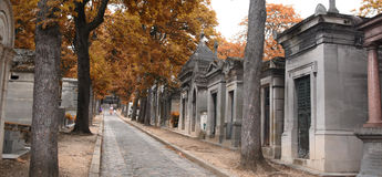 Pere Lachaise Cemetery. Cemetery of Pere Lachaise in Paris, France Stock Photo