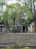 Pere Lachaise Cemetery Alley Royalty Free Stock Photography