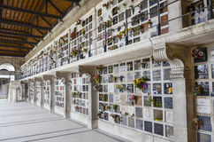 Pere Lachaise Cemetery columbarium Stock Photo