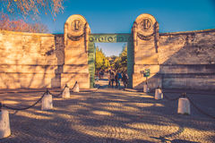 Pere-Lachaise cemetery entrance Royalty Free Stock Photos