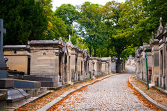 Pere-lachaise cemetery, Paris,. France Royalty Free Stock Photo