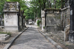 Pere Lachaise cemetery Paris Stock Photos