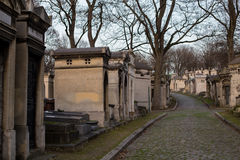 Pere Lachaise Cemetery, Paris, France. Graves of the Perl Lachaise Cemetery, Paris, France Royalty Free Stock Photos