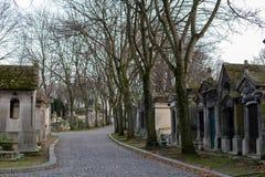 Pere Lachaise Cemetery, Paris, France. Graves of the Perl Lachaise Cemetery, Paris, France Stock Photo