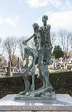 Pere Lachaise Cemetery in Paris, France Stock Photography
