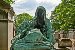 Pere Lachaise cemetery, Tombe de Mme Moris Paris Royalty Free Stock Photo