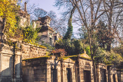 Pere-Lachaise cemetery tombs Royalty Free Stock Photo