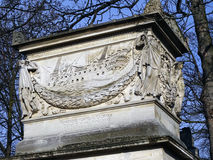 Pere Lachaise Cemetery #8. A very ancient & beautiful grave found in Pere Lachaise cemetery Royalty Free Stock Image