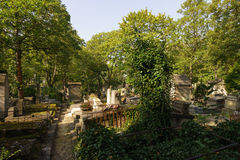 Pere Lachaise Cemetery Stock Photos