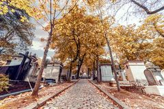 Pere Lachaise graveyard Stock Images