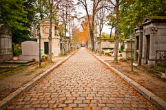 Pere-lachaise Kirchhof, Paris Stockbild