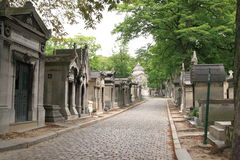 Pere Lachaise Kirchhof in Paris Stockbilder