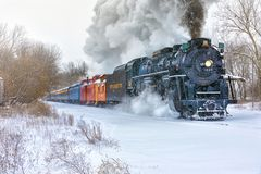 "Pere Marquette 1225 ""North Pool Express† Stock Fotografie"