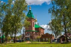 PEREDOL,俄罗斯- 2017年5月:圣尼古拉斯教会  库存照片