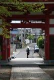 Peregrinação japonesa fotografia de stock