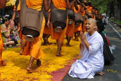 Peregrinaje budista fotografía de archivo libre de regalías