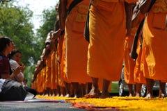 Peregrinaje budista Foto de archivo libre de regalías