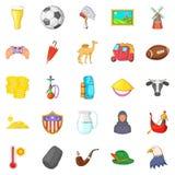 Peregrinate icons set, cartoon style. Peregrinate icons set. Cartoon set of 25 peregrinate vector icons for web isolated on white background Stock Image