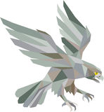 Peregrine Falcon Swooping Grey Low Polygon Royalty Free Stock Images