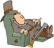 Peregrino cansado en un Recliner Fotos de archivo