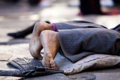 Peregrino descalço Foto de Stock Royalty Free