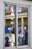 Peregrino em India fotografia de stock