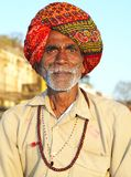 Peregrino en Omkareshwar Imagenes de archivo