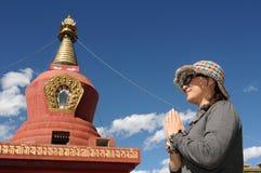 Peregrino en Tíbet Imagen de archivo libre de regalías