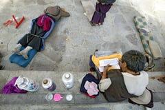 Peregrino tibetano en Lhasa Imágenes de archivo libres de regalías
