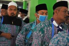 Peregrinos de Indonésia fotografia de stock royalty free