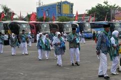 Peregrinos de Indonesia Imagen de archivo libre de regalías