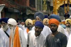 Peregrinos do sikh, Amritsar, Punjab, India Imagens de Stock Royalty Free
