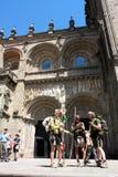 Peregrinos en el Camino de Santiago Imágenes de archivo libres de regalías