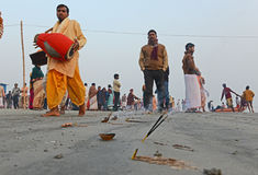 Peregrinos hindúes Fotos de archivo