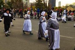 Peregrinos marzo en el desfile anual de Philly Imágenes de archivo libres de regalías
