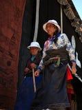 Peregrinos tibetanos Foto de Stock Royalty Free