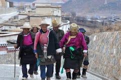Peregrinos tibetanos Fotografia de Stock Royalty Free