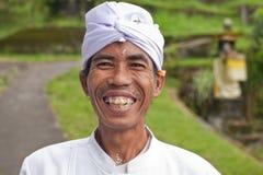 Peregrinos tradicionales del Balinese Foto de archivo libre de regalías