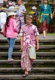 Peregrinos tradicionales del Balinese Imagenes de archivo
