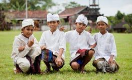 Peregrinos tradicionales del Balinese Fotografía de archivo