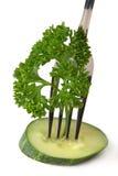 Perejil del pepino de la fork Fotografía de archivo